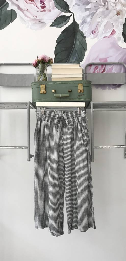 Navy Striped Culotte