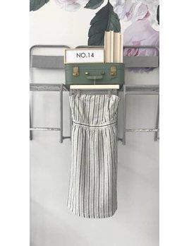 Strapless Midi Dress W/ Back Tie