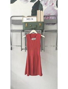 Criss Cross Back Jersey Dress