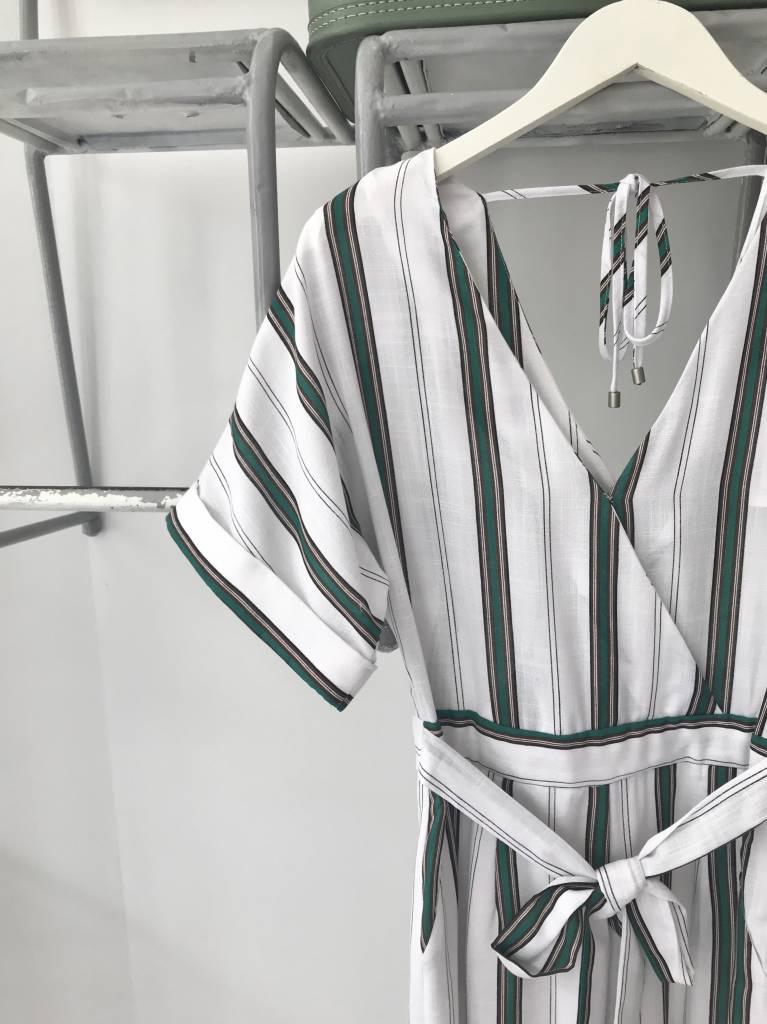 Dolman Sleeve Jumpsuit STRIPE