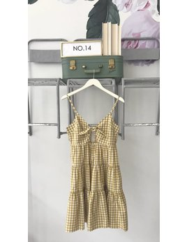 Citron Gingham Babydoll Dress