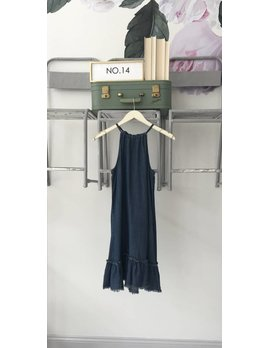 Denim Dropwaist Tank Dress