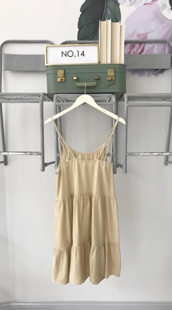 Mustard Striped BabyDoll Dress