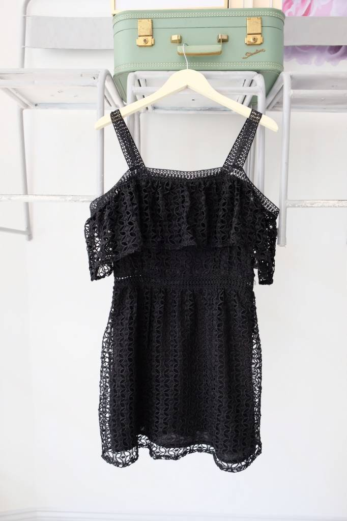 Black Lace OTS Dress