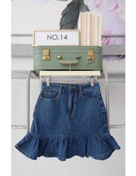 Denim Ruffled Skirt