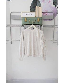 Ruffle Sleeve Sweatshirt