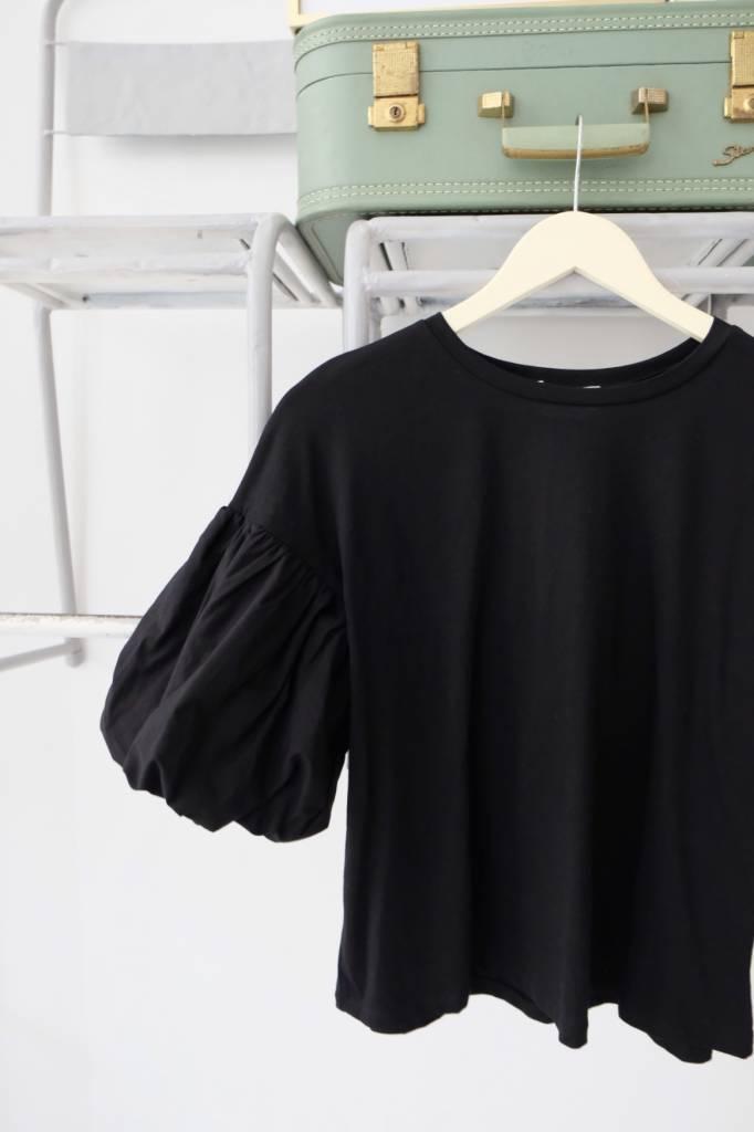 Puff Sleeve Jersey Top