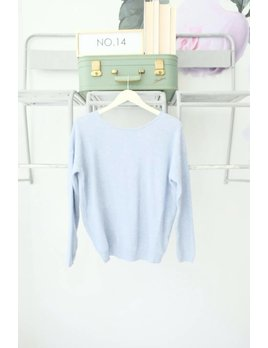 Knot Back Sweater Sky