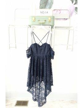 Hi Low Cold Shoulder Lace  Dress