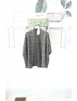 Black Marled Knit Cardi