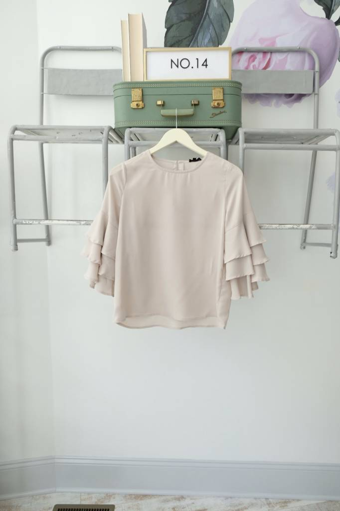 3/4 Tiered Sleeve Top