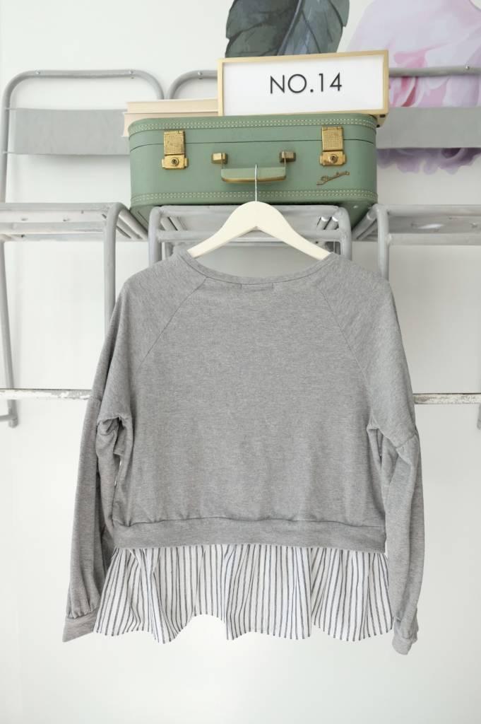 Ruffle Bottom Sweatshirt