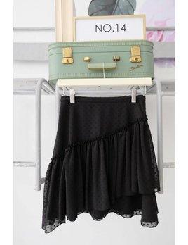 Black Swiss Dot Skirt