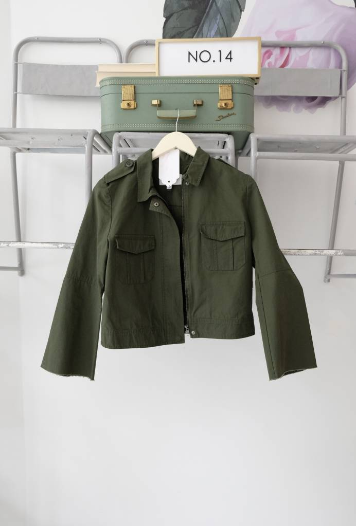 Cropped Army Jacket