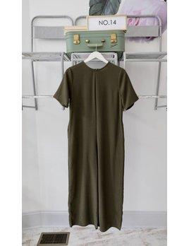 Olive Short Sleeve Jumpsuit