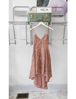Lace Hi Low Dress MAUVE