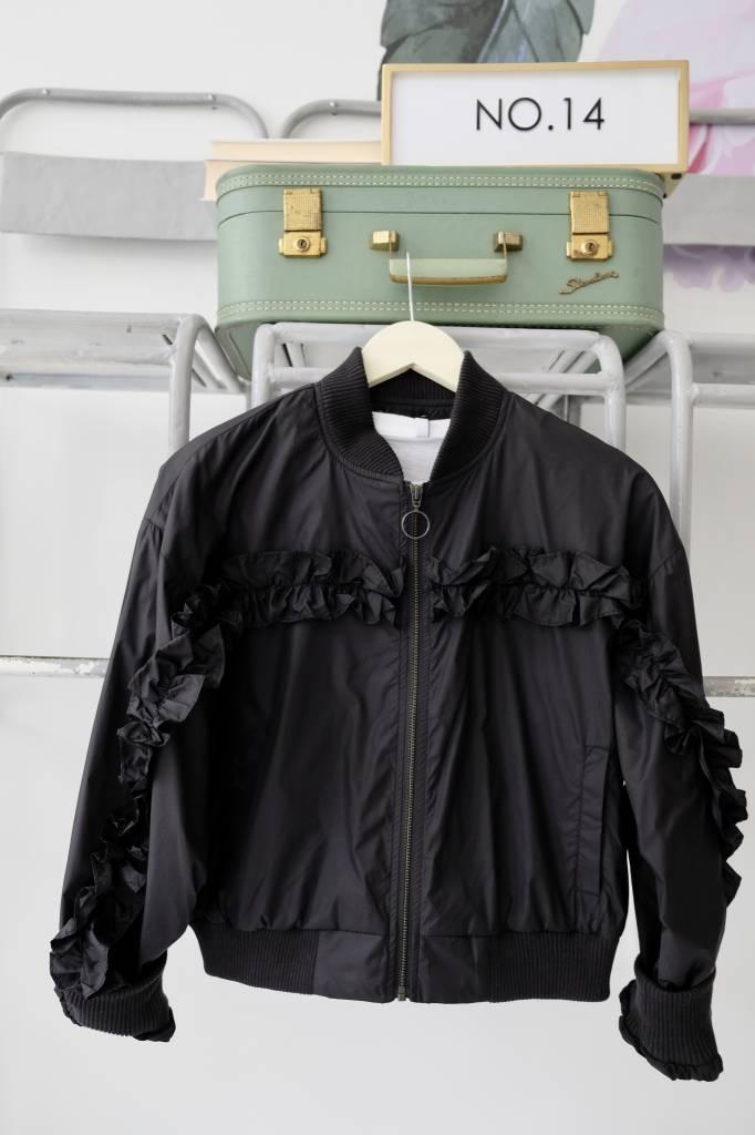 Ruffle Bomber Jacket