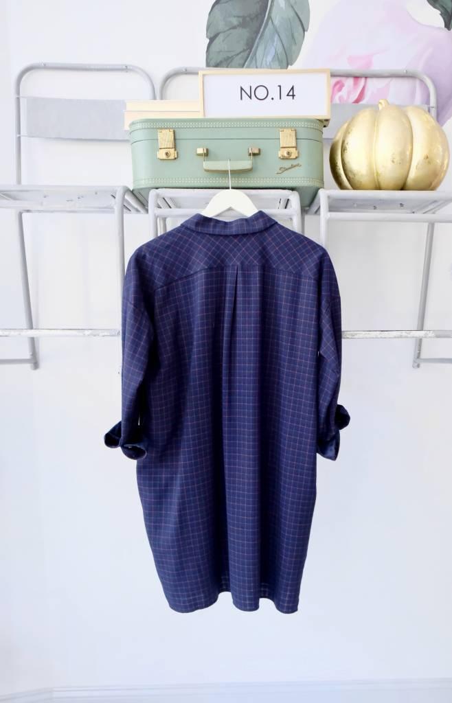 Collared Long Sleeve Shirt Dress No 14