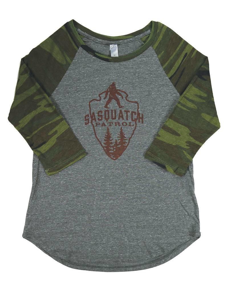 Sasquatch Patrol - Camo Raglan