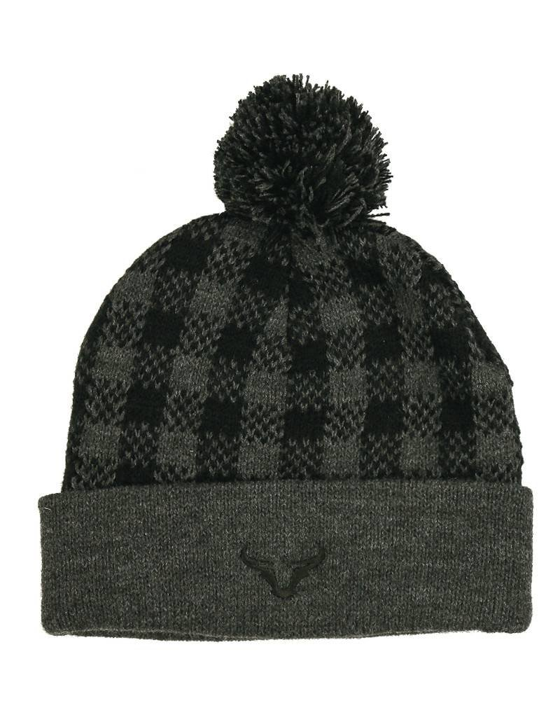 Plaid Knit Beanie