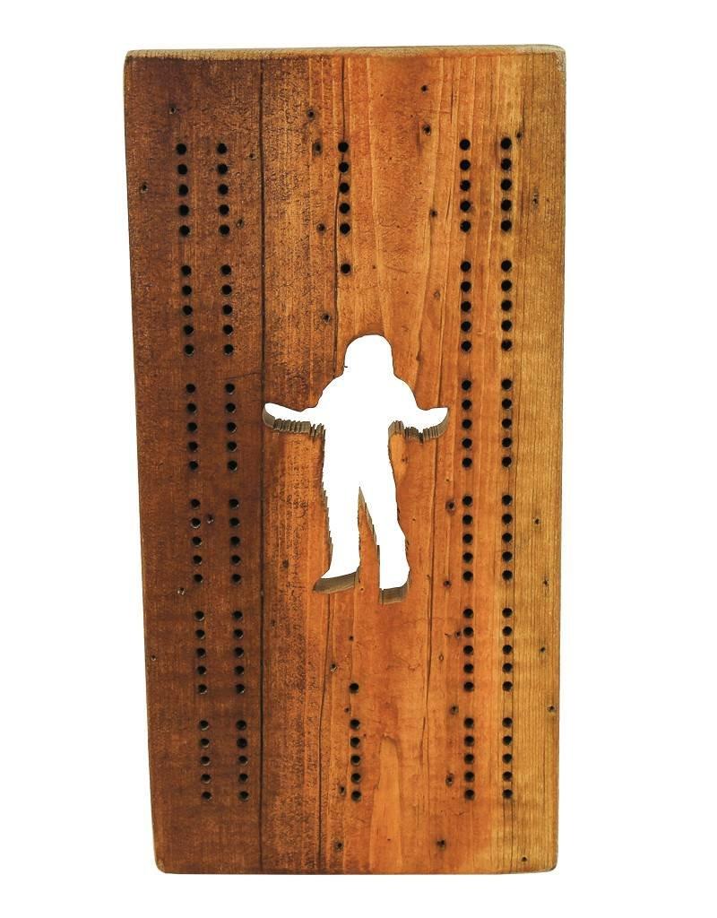 Sasquatch Cribbage Board