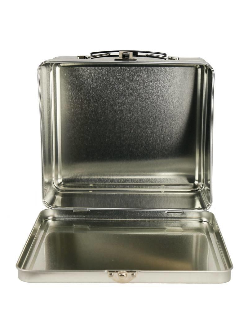 Roarin' Lunchbox - Retro Silver Square