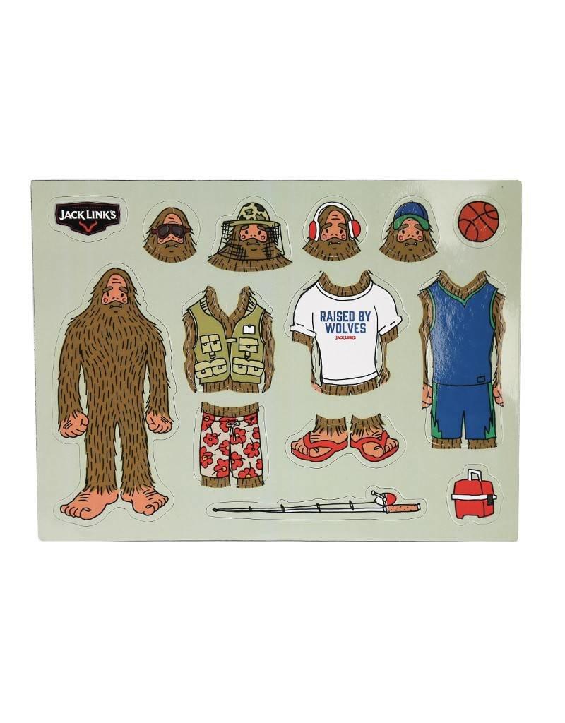 Dress up Sasquatch - Magnet Set