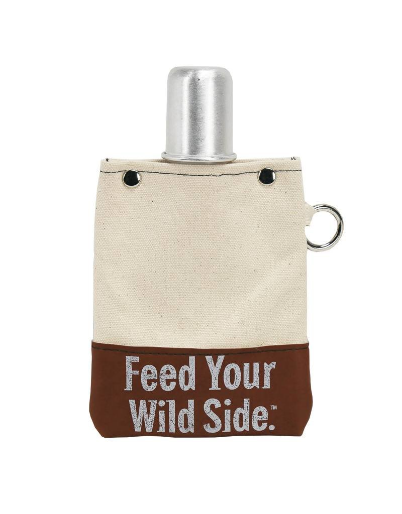 Feed Your Wild Side™ - Brown & Natural Flask