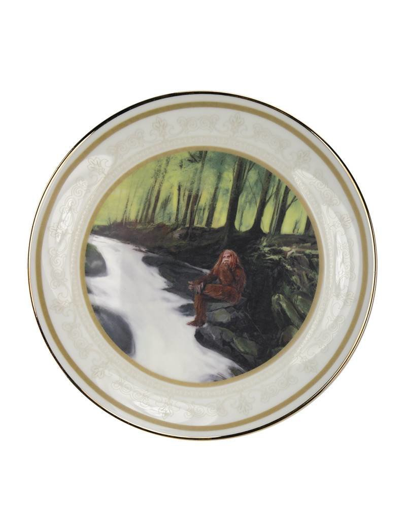 Sasquatch Hanging by The Creek Collector Plate
