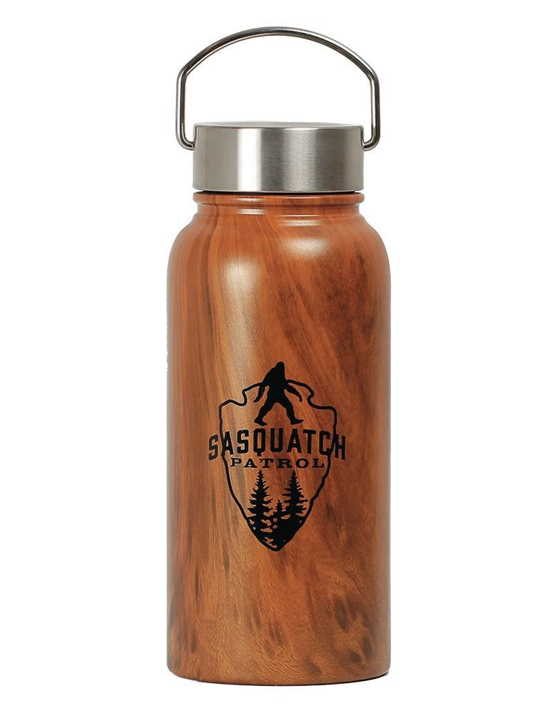 Sasquatch Patrol - Water Bottle 30oz Stainless Wood Coated