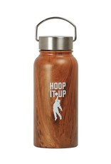 Hoop It Up - Water Bottle 30 oz Stainless Wood Coated