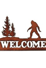 Sasquatch Welcome Metal Laser Sign