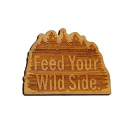 Feed Your Wild Side™ Bamboo Magnet