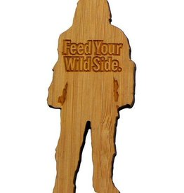 Sasquatch Silhouette Bamboo Magnet