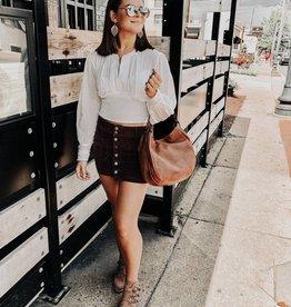 Free People Joanie Cord Skirt