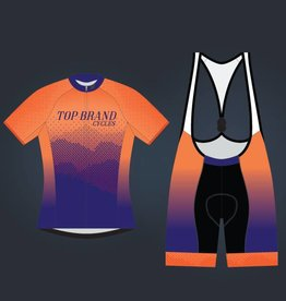 "SPECIALIZED TOP BRAND ""MOUNTAINS"" LADIES ORANGE/PURPLE KIT"