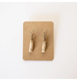 Sharon Ramick Sharon Ramick - Tan Cylinder Earrings