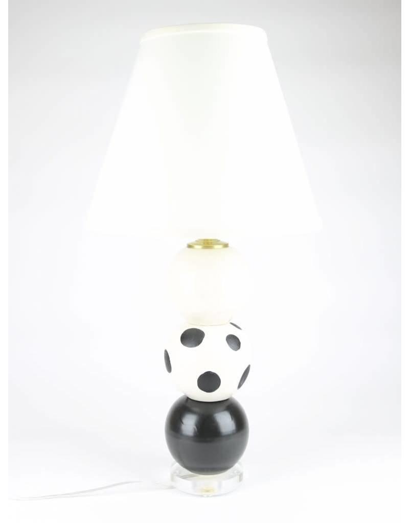 Linda Bowman Linda Bowman - Black and White Lamp