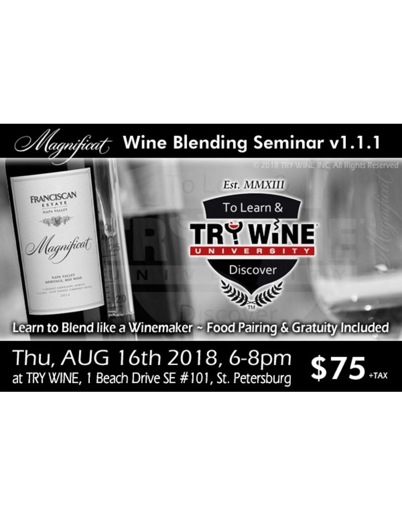 Special EVENTS PER PERSON - Become the Winemaker for the Day Blending EVENT #1 (1.1.1), Thursday, August 16th, 2018 - Start 6pm - Limited to 10 Persons