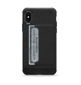 Casetify Casetify - X Essential Woven Pocket Case Matte Black for iPhone X 120-0580