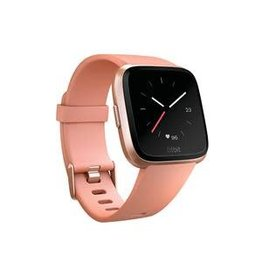 Fitbit Fitbit Versa, Rose Gold Aluminum Case with Peach Band FB504RGPKCALA