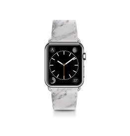 Casetify Casetify | Saffiano Leather Band White Marble for Apple Watch 38mm | 122-0015