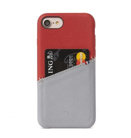 Decoded Decoded Leather Snap iPhone 7/8 Red/Gray DC-DA6IPO7SO1RDGY