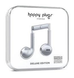 Happy Plugs Happy Plugs Metallic Silver Deluxe Edition Headphones 14153VRP