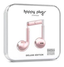 Happy Plugs Happy Plugs Metallic Pink Deluxe Edition Headphones - 17482VRP