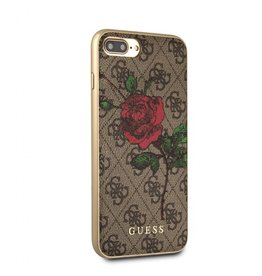Guess Guess IPhone 7/8+ Red Rose Brown Pattern Hard Phone Case (Spring Collection) GUHCI8L4GROB