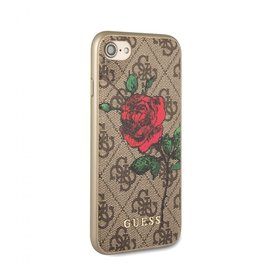 Guess Guess IPhone 7/8 Red Rose Brown Pattern Hard Phone Case (Spring Collection) GUHCI84GROB