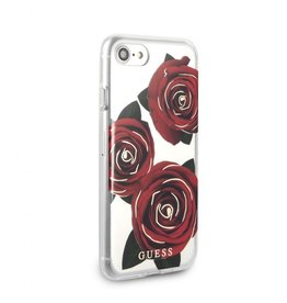 Guess Guess IPhone 7/8 Transparent Red Rose Hard Phone Case (Spring Collection) GUHCI8ROSTR