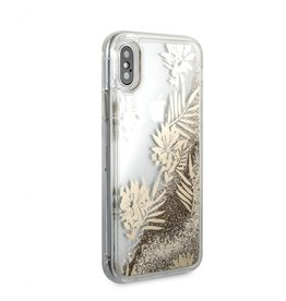 Guess Guess IPhone X Palm Spring Glitter Gold Hard Phone Case (Glitter Collection) GUHCPXGLUprg