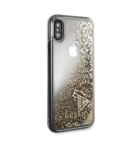 Guess Guess IPhone X Floating Glitter Gold Hard Phone Case (Glitter Collection) GUHCPXGLUFLRA